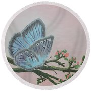Amandas Blue Dream Round Beach Towel by Felicia Tica