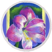 Amaryllis By Morning Round Beach Towel
