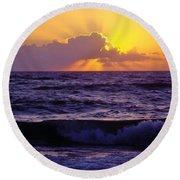 Amazing - Florida - Sunrise Round Beach Towel by D Hackett