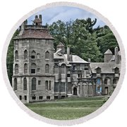 Amazing Fonthill Castle Round Beach Towel