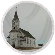 Amazing Grace In North Dakota Round Beach Towel