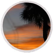 Amazing Sunrise In Florida Round Beach Towel