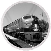 Amazing Trainyard Round Beach Towel