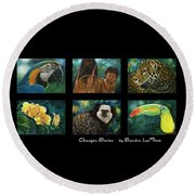 Amazon Series Collage Round Beach Towel
