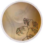 Amber Vision Round Beach Towel