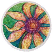 Ambition Round Beach Towel by Tanielle Childers