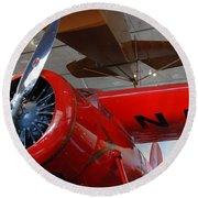 Amelia Earhart Prop Plane Round Beach Towel
