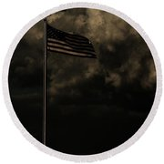 Round Beach Towel featuring the photograph America....... by Jessica Shelton