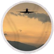 American Airlines Approach Round Beach Towel