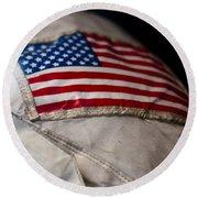 American Astronaut Round Beach Towel
