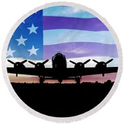American B-17 Flying Fortress Round Beach Towel