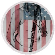American Badass Round Beach Towel by Dan Sproul