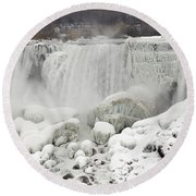 American Falls Round Beach Towel by JT Lewis