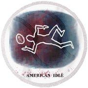 American Idle Round Beach Towel
