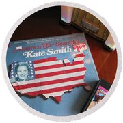 Round Beach Towel featuring the photograph American Music by Michael Krek