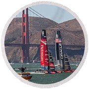 Americas Cup At The Gate Round Beach Towel