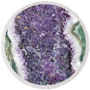 Amethyst Geode Round Beach Towel by Tikvah's Hope