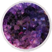 Amethyst  Round Beach Towel by Leanne Seymour