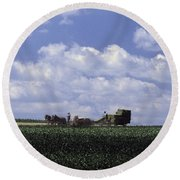 Amish Country Round Beach Towel