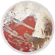 Amoeba  Amoebae Abstract Round Beach Towel by Lee Craig