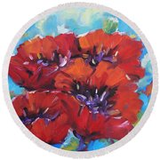Amore By Prankearts Round Beach Towel by Richard T Pranke
