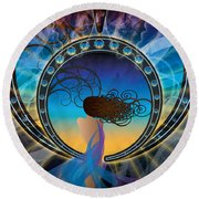 Amore E Nostalgia Round Beach Towel by Kenneth Armand Johnson