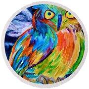 Ampersand Owl Round Beach Towel