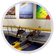Amphibious Plane And Era Posters Round Beach Towel