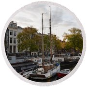 Amstel River Round Beach Towel