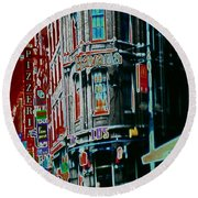 Amsterdam Abstract Round Beach Towel