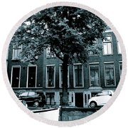 Amsterdam Electric Car Round Beach Towel