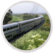 Round Beach Towel featuring the photograph Coast Starlight At Dolan Road by James B Toy