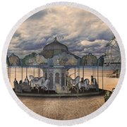 Amusement  Round Beach Towel by Betsy Knapp