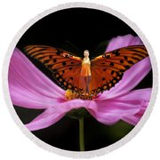 Amy The Butterfly Round Beach Towel