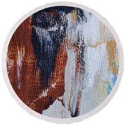 Round Beach Towel featuring the painting An Abstract Sort Of Weekend by Heidi Smith
