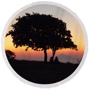 Round Beach Towel featuring the photograph An African Sunset by Vicki Spindler