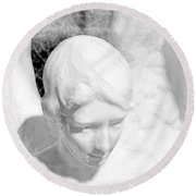 An Angel  Round Beach Towel