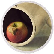 An Apple A Day... Round Beach Towel by Amy Weiss