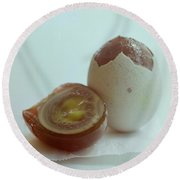 An Egg Round Beach Towel
