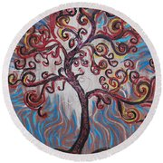 An Enlightened Tree Round Beach Towel