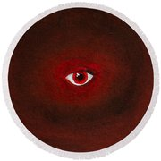 An Eye Is Upon You Round Beach Towel by Stefanie Forck