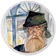 An Old Man From Olonets Round Beach Towel