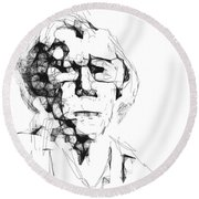 An Old Woman Round Beach Towel