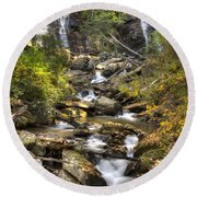 Ana Ruby Falls In Autumn Round Beach Towel