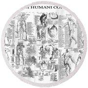 Anatomy Of The Human Body  1728 Round Beach Towel