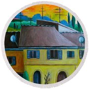 Ancient Volterra Wired Round Beach Towel by Victoria Lakes