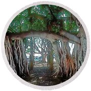 Ancient Arch Round Beach Towel by Terry Reynoldson