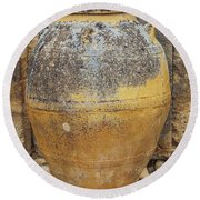 Ancient Minoan Big Pots From About  2000 Bc Round Beach Towel
