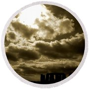 Round Beach Towel featuring the photograph Ancient Mystery by Vicki Spindler