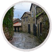 Ancient Street In Tui Round Beach Towel